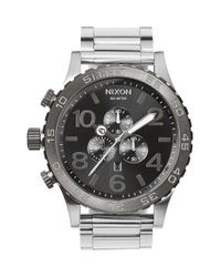 Nixon - Metallic 'the 51-30' Chronograph Bracelet Watch for Men - Lyst