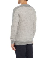 DIESEL | Gray S-erastos Regular Fit Textured Jumper for Men | Lyst