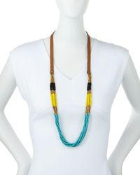 Panacea - Blue Colorblock Multi-strand Beaded Necklace - Lyst