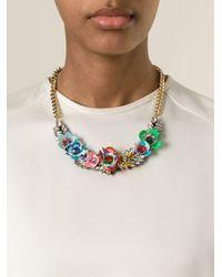 Shourouk | Metallic 'flower Multi' Necklace | Lyst