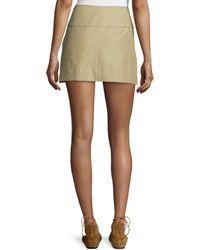 Isabel Marant - Natural Tromp-l'oeil Double-buckle Mini Skirt - Lyst
