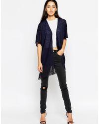 AX Paris | Blue Knitted Kimono Top | Lyst
