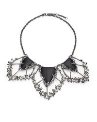 Alexis Bittar | Black Cubist Lucite & Crystal Cluster Three-Station Necklace | Lyst