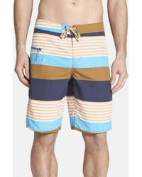 Patagonia | Brown Wavefarer Engineered Stripe Boardshorts for Men | Lyst