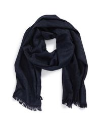 Ferragamo - Blue Gancini Wool & Silk Scarf for Men - Lyst