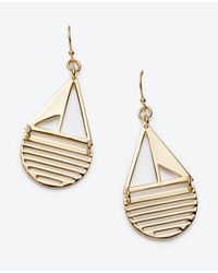 Ann Taylor | Metallic Sailboat Drop Earrings | Lyst