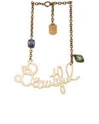 Lanvin | Metallic Beautiful Necklace | Lyst