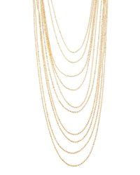Forever 21 - Metallic Layered Ball Chain Necklace - Lyst