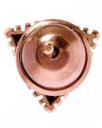 Kismet by Milka - Metallic Gold Triangle Diamond Stud Earring - Lyst