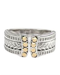 Effy - Metallic Balissima Sterling Silver And 18Kt. Yellow Gold Ring With Diamonds - Lyst