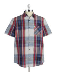 Guess | Gray Plaid Sportshirt for Men | Lyst