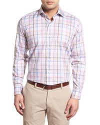 Peter Millar | Blue 'summertime' Trim Fit Sport Shirt for Men | Lyst