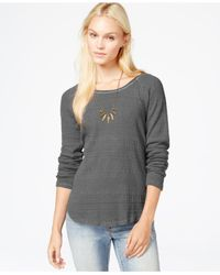 Lucky Brand | Gray Textured Thermal Top | Lyst
