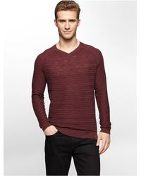 Calvin Klein | Jeans Textured V-neck Sweater for Men | Lyst