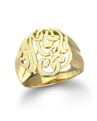 Ginette NY | Metallic Lace Monogram Ring, Gold | Lyst