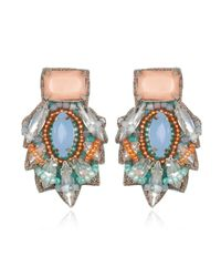 Suzanna Dai | Barsaloi Button Earrings, Blue/sunset | Lyst