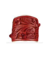 Ralph Lauren | Red Tooled-Leather Cuff | Lyst