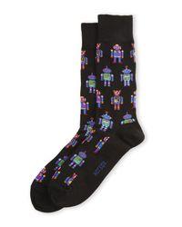 Hot Sox | Black Dancing Machine Crew Socks for Men | Lyst