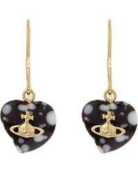Vivienne Westwood | Brown Liz Heart-shaped Drop Earrings | Lyst