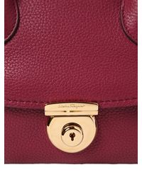 Ferragamo - Purple Small Fiamma Grained Leather Bag - Lyst