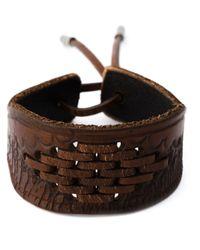 Saint Laurent | Brown Laced Bracelet for Men | Lyst