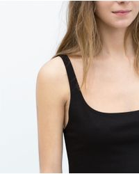 Zara | Black Basic Sleeveless Dress | Lyst