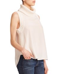 Elizabeth and James | White Tivi Sleeveless Turtleneck Top | Lyst