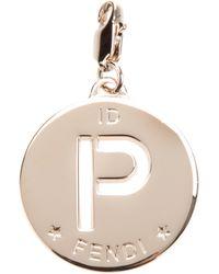 Fendi | Metallic 'P' Identity Charm | Lyst