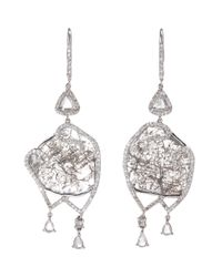 Sharon Khazzam | Metallic Grey Diamond Slice Valencia Earrings | Lyst