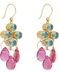 Marie-hélène De Taillac | Pink Trapeze Earrings | Lyst