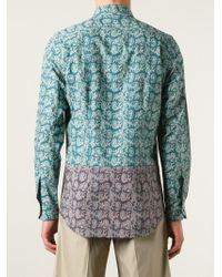 Paul Smith - Green Paisley Print Shirt for Men - Lyst
