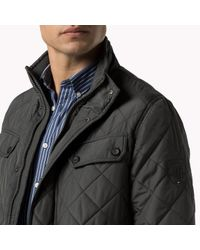 Tommy Hilfiger | Gray Mixed Blend Quilted Jacket for Men | Lyst