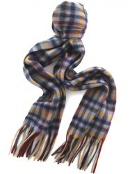 Jules B - Blue Small Check Scarf for Men - Lyst