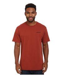 Patagonia - Red P-6 Logo Cotton T-shirt for Men - Lyst