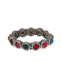 Mikey | Multicolor Cone Shape Crystal Elastic Bracelet | Lyst