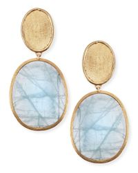 Marco Bicego - Metallic 18K Gold Aquamarine Drop Earrings - Lyst