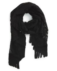 Glint | Black Lace Layered Evening Wrap | Lyst