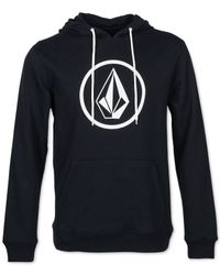 Volcom | Black Stone Graphic Print Pullover Hoodie for Men | Lyst
