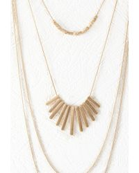 Forever 21 | Metallic Matte Charm Layered Necklace | Lyst