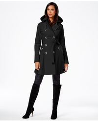 Ivanka Trump | Black Skirted Double-breasted Coat | Lyst