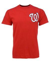 Majestic - Red Men's Short-sleeve Bryce Harper Washington Nationals T-shirt for Men - Lyst
