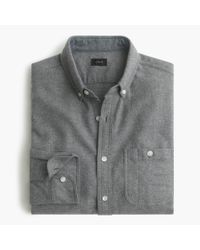 J.Crew | Gray Cotton-wool Elbow-patch Shirt In Solid for Men | Lyst