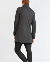 Zara | Gray Diagonal Coat for Men | Lyst