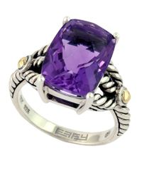 Effy | Purple Balissima 18 Kt. Yellow Gold And Sterling Silver Amethyst Ring | Lyst