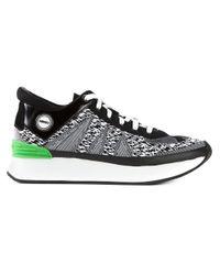 KENZO - Black 'White Noise' Sneakers - Lyst