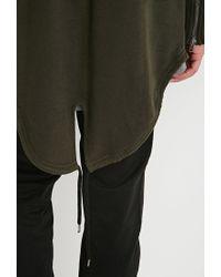 Forever 21 - Green Longline Fishtail Hoodie for Men - Lyst