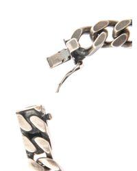 Saint Laurent | Metallic Chunkychain Sterlingsilver Bracelet for Men | Lyst