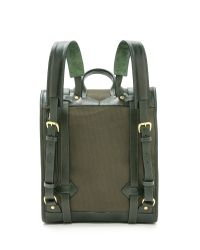 Lotuff Leather - Green Canvas & Leather Backpack for Men - Lyst