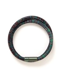 Tateossian | Green 'edinburgh' Tartan Plaid Double Wrap Bracelet for Men | Lyst