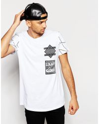 Jack & Jones | White Skater T-shirt With Back Print for Men | Lyst